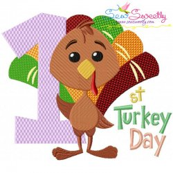 First Turkey Day Embroidery Design
