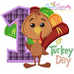 First Turkey Day Applique Design