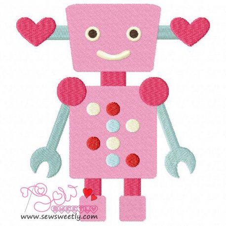 Lovely Robot-6 Embroidery Design