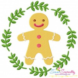 Christmas Frame- Gingerbread Man Embroidery Design