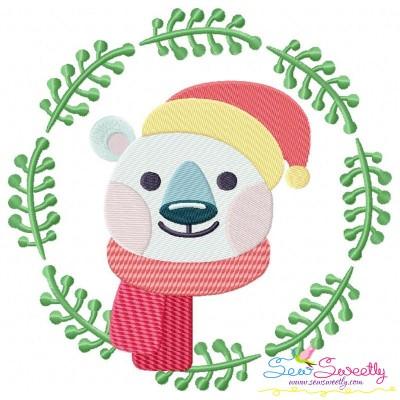 Christmas Frame- Bear Embroidery Design