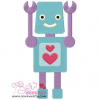 Lovely Robot-7 Embroidery Design