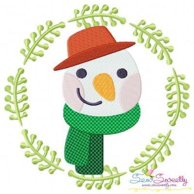 Christmas Frame- Snowman-2 Embroidery Design