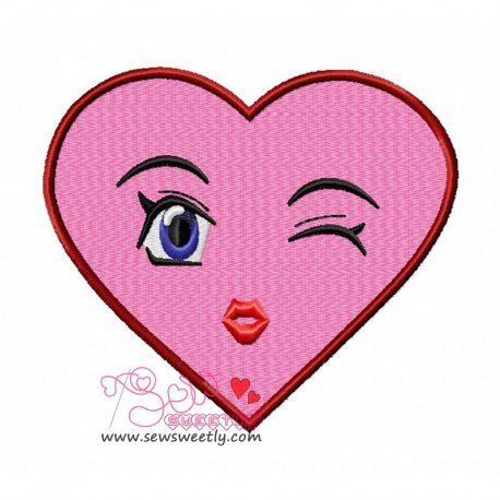 Lovely Heart Embroidery Design