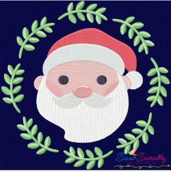Christmas Frame- Santa-2 Embroidery Design