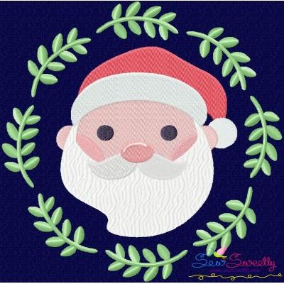 Christmas Frame- Santa-2 Embroidery Design
