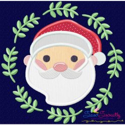 Christmas Frame- Santa-2 Applique Design