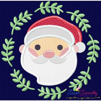 Christmas Frame- Santa-2 Applique Design