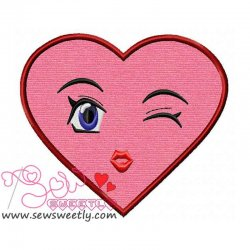 Lovely Heart Applique Design