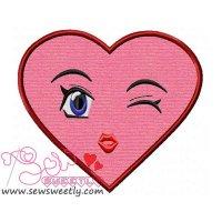 Lovely Heart Applique Design