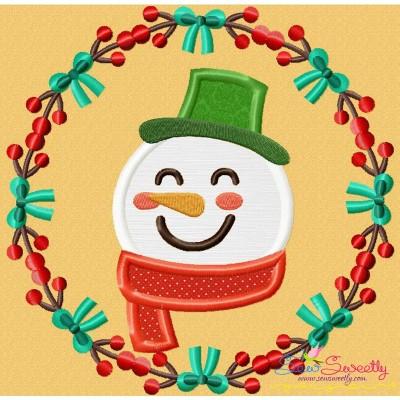 Christmas Frame- Snowman Applique Design