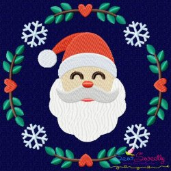 Christmas Frame- Santa Embroidery Design