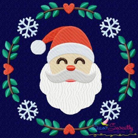 a6f0a92e4b317 Christmas Frame- Santa Machine Embroidery Design For Christmas