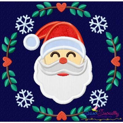 Christmas Frame- Santa Applique Design