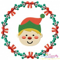 Christmas Frame- ELF Embroidery Design