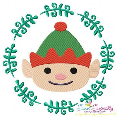 Christmas Frame- ELF-2 Embroidery Design