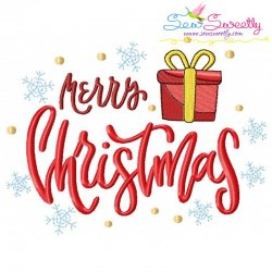 Merry Christmas- Gift Lettering Embroidery Design