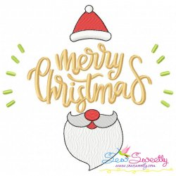 Merry Christmas- Santa Lettering Embroidery Design