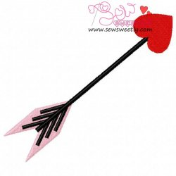 Arrow Heart Embroidery Design