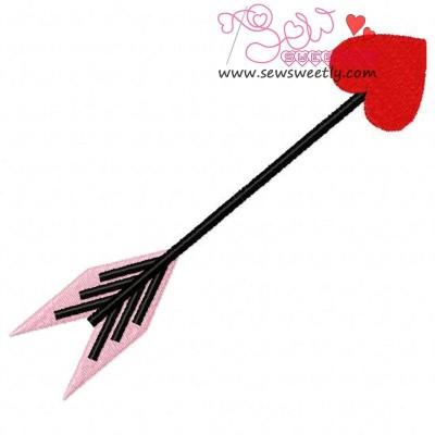 Arrow Heart Embroidery Design