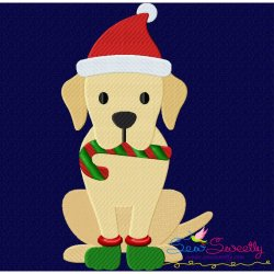 Christmas Labrador Dog Embroidery Design