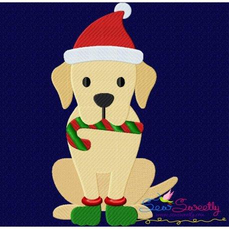 Christmas Labrador Dog Embroidery Design