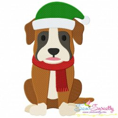Christmas Boxer Dog Embroidery Design
