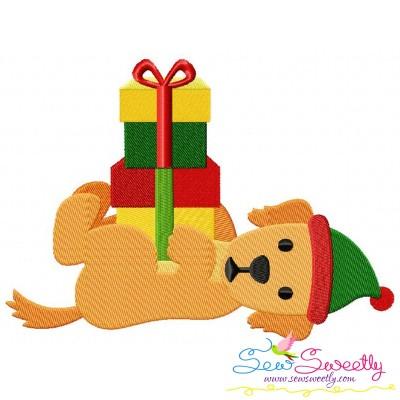 Christmas Retriever Dog Gifts Embroidery Design