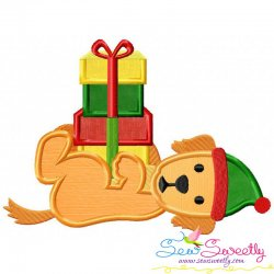 Christmas Retriever Dog Gifts Applique Design