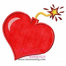 Exploding Heart Applique Design