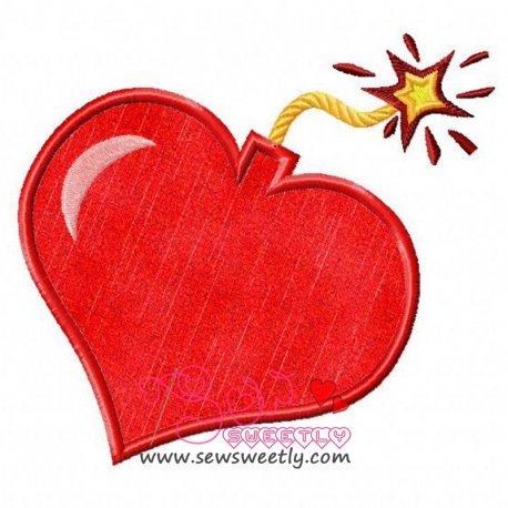 Exploding Heart Applique Design