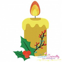 Christmas Candle-4 Embroidery Design