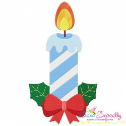 Christmas Candle-3 Embroidery Design