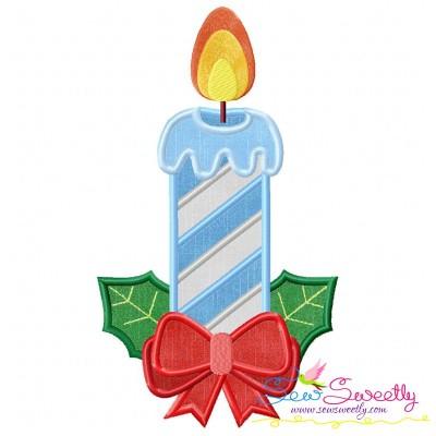 Christmas Candle-3 Applique Design