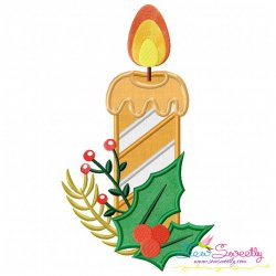 Christmas Candle-2 Applique Design
