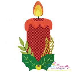 Christmas Candle-1 Embroidery Design
