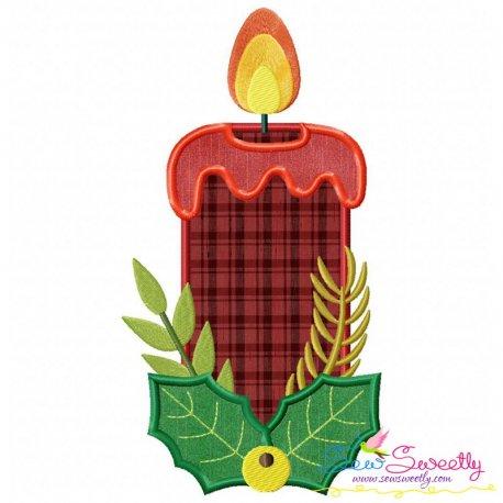 Christmas Candle-1 Applique Design