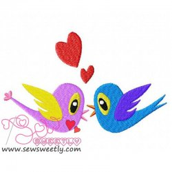 Valentine Birds Embroidery Design