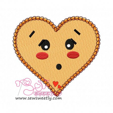 Orange Heart Embroidery Design