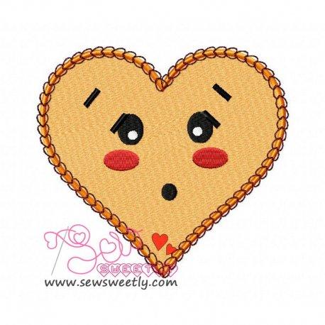 Orange Heart Embroidery Design