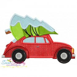 Christmas Bug Car- Tree Applique Design
