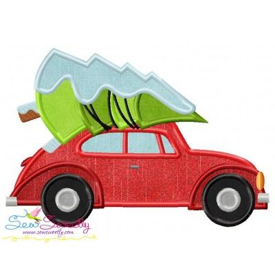 Christmas Bug Car- Tree Applique Design