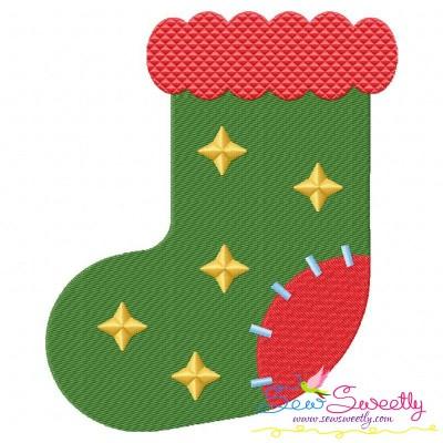 Christmas Stocking-2 Embroidery Design