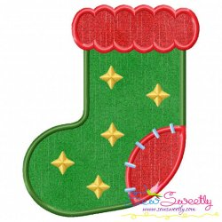 Christmas Stocking-2 Applique Design