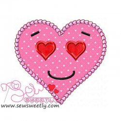 Pink Heart Applique Design