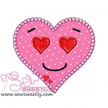 Pink Heart Applique Design