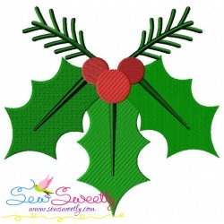Christmas Holly Leaves-3 Embroidery Design