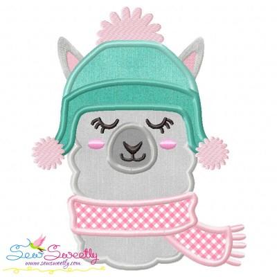 Winter Llama Applique Design