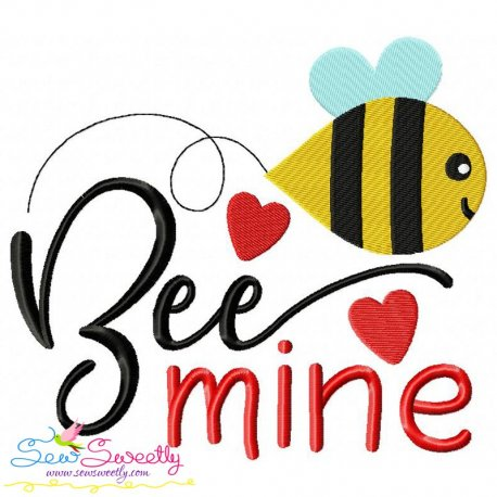 Bee Mine-3 Embroidery Design Pattern- Category- Valentine's Day Designs- 1