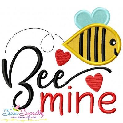 Bee Mine-3 Applique Design